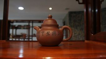 traditional clay tea pot