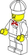 drawn lego cook