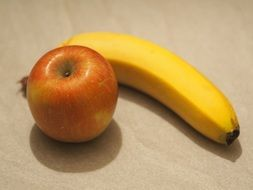 apple and banana for a healthy snack