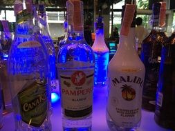 Different varities of the alcohol drinks in the bar