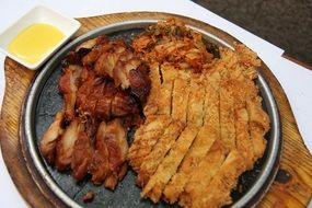 grilled meat in a plate