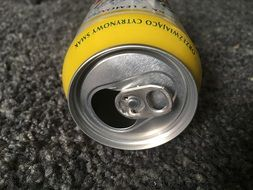 empty beer can closeup