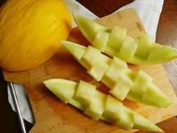 juicy yellow slices of melon