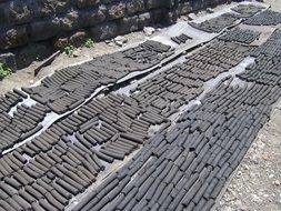 production of charcoal in briquettes