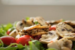 salad with tomatoes and mushrooms