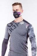 man in anti smog mask