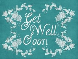 Get Well Soon Greeting Card drawing