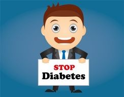Clipart of Diabetes Stop sign