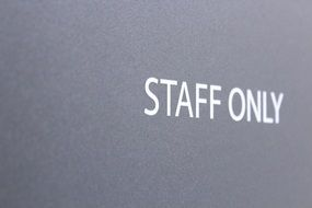 staff only Sign drawing