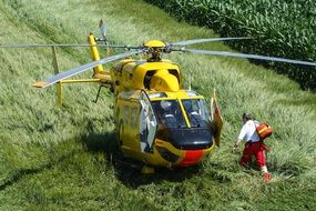 landing rescue helicopter