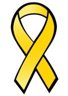 yellow ribbon against cancer