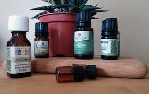 essential oils in small bottles
