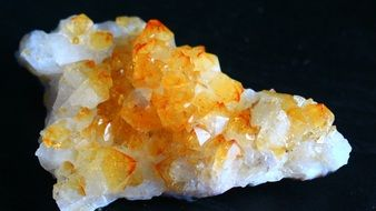 Citrine, Quartz Crystal, macro