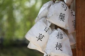 herbal pouches in Chinese medicine