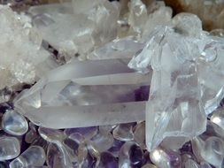 transparent chunks of rock crystal