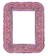 pink decorative photo frame