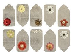 Flower Vintage Tags drawing