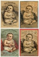 collection of Vintage Baby Products stickers