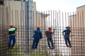 steelworkers on metal construction