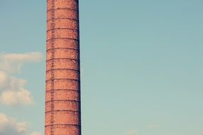 brick chimney of an industrial enterprise