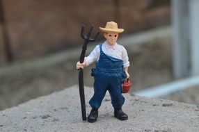 little farmer toy figure