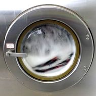 soap in the washing machine