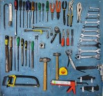 collection of tools for work