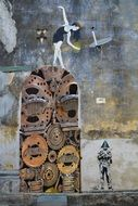 gears and cogs on the wall