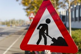Road sign about road works