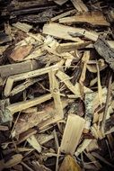 wood chips on a heap