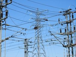 Power Electricity Pylon Wires