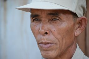 portrait of a man in Thailand
