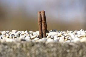 Picture of rust and Pebbles