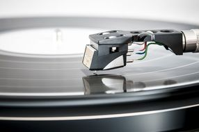 Photo of recording turntable