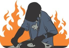 Deejay and Fire drawing
