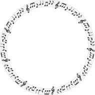 circle with musical notes