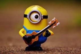 toy minion with guitar