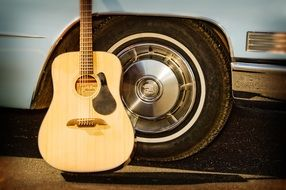 Guitar and Car