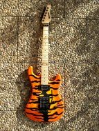 painted electric guitar