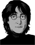 John Lennon Beatles Rock drawing