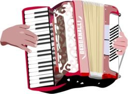 Accordion Hands Music Instrument drawing