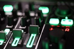 Music equipment, Knobs on control panel