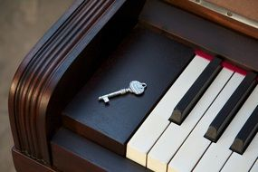 metal Key on piano Keyboard