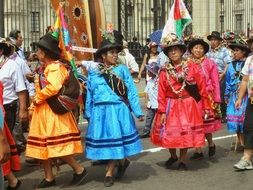 colorful festival in peru