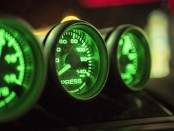 green Gauges Dashboard