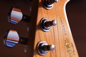 electric guitar Keys close up