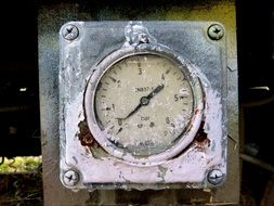 old weathered Pressure Gauge