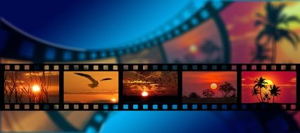 picturesque nature like film strip