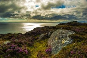 rocky hills on the coast in scotland