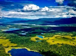 aerial view of denali national park